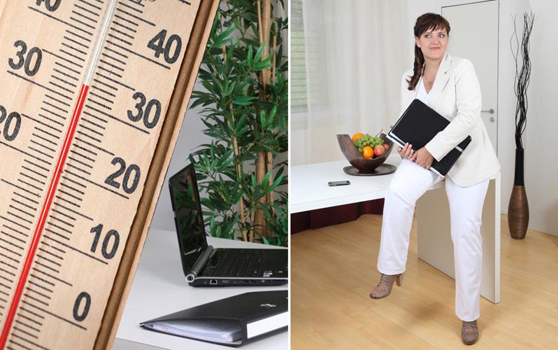 Büro mit Thermometer 500